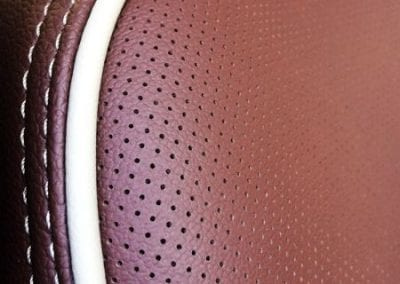 Perforated Car Seat Sample