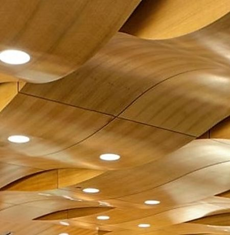 Perforated Wood Veneer Ceiling
